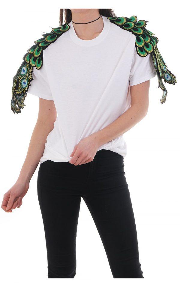 Ragyars T-Shirt Peacock White