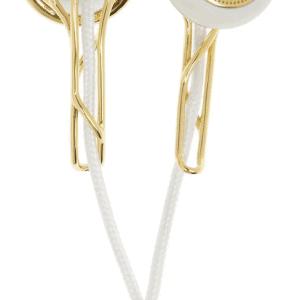 Frends gold tone earphones Ella white cord