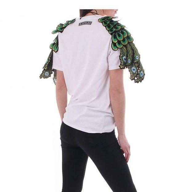 Ragyard t-shirt peacock white